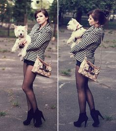 Paper trash bag CHANEL n super dog Chicko <3 (by Alessa Borisova) http://lookbook.nu/look/1967454-paper-trash-bag-CHANEL-n-super-dog-Chicko-3