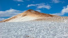 Фобос. Snow on the dunes of the Sahara Desert at Ain Sefra (Algeria, 20/01/2017)