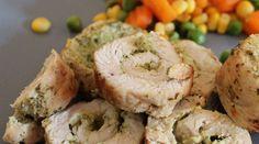 Pesto Hähnchenröllchen sehen auf dem Teller toll aus. Sind lecker, total einfach und schnell zubereitet.