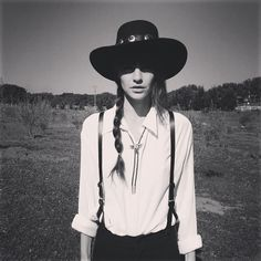 Tomboy cowgirl  #androgynous #monochrome #fashion