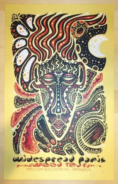 2014 Widespread Panic - Birmingham Concert Poster by Jeff Wood Concert Flyer, Concert Hall, Music Posters, Concert Posters, Widespread Panic, Birmingham, Flyers, Vintage Posters, Afro