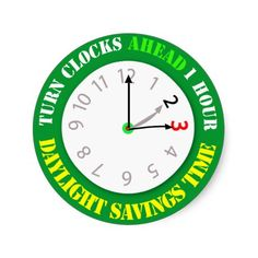 Shop Daylight Savings Time Reminder Classic Round Sticker created by imagefactory. Daylight Savings Time Begins, Clocks Forward, Calendar Reminder, Clocks Back, Round Stickers, Save Energy, Custom Stickers, Activities For Kids