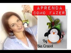 Enfeite de Natal - Pinguim - DIY - Bia Cravol- aula de biscuit - YouTube Penguin Ornaments, Christmas Ornaments, Cute Clay, Clay Figurine, Pasta Flexible, Air Dry Clay, Clay Tutorials, Cold Porcelain, Diy Videos