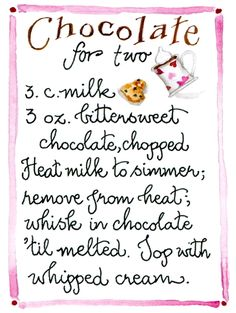 Chocolate for Two By Susan Branch - Hot Chocolate