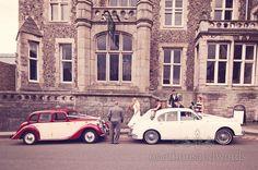Wedding Cars before Dorset Castle Wedding. Photography by one thousand words wedding photographers