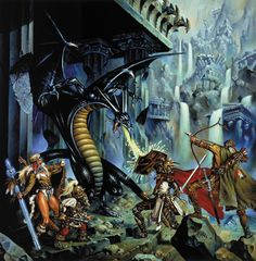 Clyde Caldwell - Dragons of Despair  www.ClydeCaldwell.com