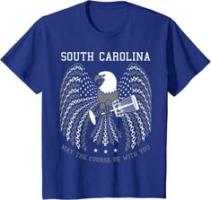 Amazon.com: May The Course Be With You South Carolina Disc Golf Eagle T-Shirt: Clothing Graphic Shirts, Printed Shirts, Branded T Shirts, Cool Tees, Cool T Shirts, Gifts For Golfers, Golf Gifts, Best Tank Tops, T Shirts With Sayings