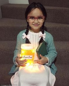 Adorable! One little girl dressed up as Sophie from the BFG (above)