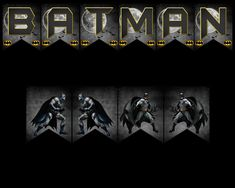 Batman Banner Batman, Party Printables, Banners, Vibrant Colors, My Design, Character, Banner, Lettering, Bunting