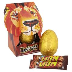 Lion Bar Retro Easter Egg 220G Body Spray, Sprays, Tigers, Lions, Easter Eggs, Bears, Lion Sculpture, Birthdays, Food And Drink