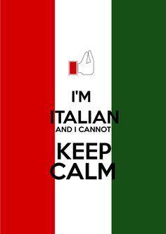 Italian blood, keep calm, italian, printables @ Nani Pizzolo www.facebook.com/nanipizzoloilustradora.com