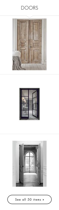 """""""DOORS"""" by fowlerteetee ❤ liked on Polyvore featuring doors, room, home, home decor, rooms, windows, art, backgrounds, furniture and fabric home decor"""