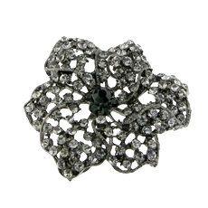 Black Crystals Rhinestones Black Gun Metal by FancyGemsandFindings, $25.00 Black Crystals, Crystal Rhinestone, Rhinestones, Retro Vintage, Metal, Gun, Flowers, Florals, Military Guns