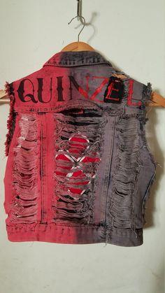 Harley Quinn Punk Vest by JessilynCupcake on Etsy