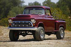 First Drive: Legacy Classic Trucks 1957 Chevy Napco Conversion - ChevroletForum Classic Pickup Trucks, Old Pickup Trucks, Gm Trucks, Jeep Pickup, Diesel Trucks, Lifted Trucks, Cool Trucks, Custom Chevy Trucks, Chevrolet Trucks