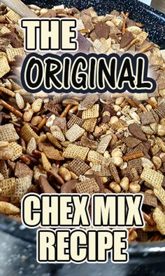 Chex Mix-An Addiction - 3 Quarters Today