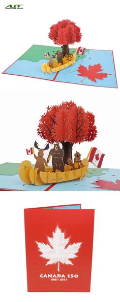 AITPOP CANADA 150 CELEBRATION #Canada150#gift#popupcard