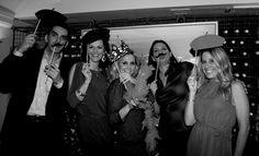 French black and white photos with props  photo booth ideas