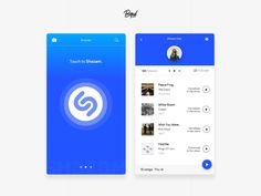 Shazam App - Redesign Concept by Patrick David
