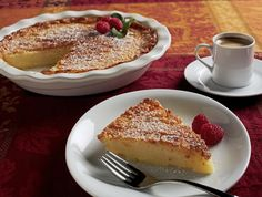 This Buttermilk Pie recipe takes very little prep time, and you can bake it while your company is arriving.