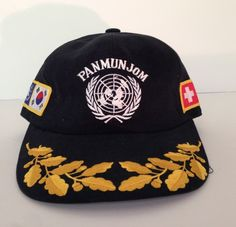 90d62c7b852 VTG PANMUNJOM Korean WAR USA Armistice Agreement CLASP BACK Military CAP HAT