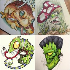 New School Tattoos are mind blowing. Sometimes new school tattoos compared to styles seen in cartooning, graffiti art, and hip hop culture. Similar to old school tattooing they both generally employ heavy outlines. New School Tattoos, New Tattoos, Flash Art Tattoos, Graffiti Art, Graffiti Tattoo, Cartoon Drawings, Art Drawings, Desenho New School, Piercings
