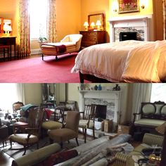 It is amazing to see #BeforeAndAfter photos of the rose #bedroom transformation. #TransformationTuesday #InteriorDesign #ClassicElegance