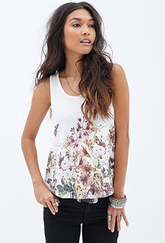 Botanical Printed Blouse | FOREVER21 - 2000130062