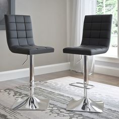Shop for CorLiving Bonded Leather Adjustable Barstools (Set of 2). Get free shipping at Overstock.com - Your Online Furniture Outlet Store! Get 5% in rewards with Club O!