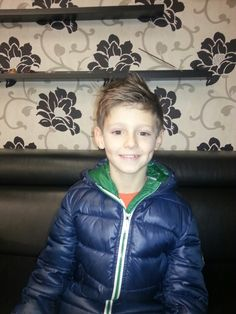 So proud of my wee man new haircut ♥♥ ! !