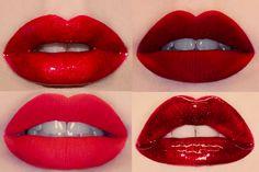 4 different Looks of Red Lipstick Lip Makeup, Makeup Tips, Beauty Makeup, Hair Beauty, Goth Makeup, Makeup Stuff, Makeup Ideas, Lipstick Colors, Red Lipsticks