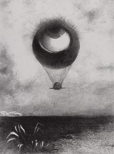 Odilon Redon L'oeil, comme un ballon bizarre, se dirige vers l'infini, 1878 Gemeentemusum, La Haya