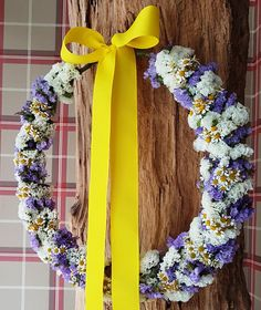 Flower wreath for your baptism.