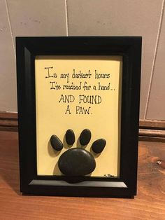 Pebble Art-Reached For a Hand and Found a Paw Animal lover