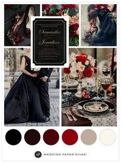 Incorporate dark tones of fall and winter in your color palette to create a scene that's captivating. Here's a closer look at some gothic wedding ideas. wedding colors Wedding Ideas and Inspiration Gothic Wedding Decorations, Gothic Wedding Cake, Wedding Themes, Gothic Wedding Ideas, Wedding Favors, Wedding Photos, Fall Wedding Colors, Burgundy Wedding, Wedding Color Schemes