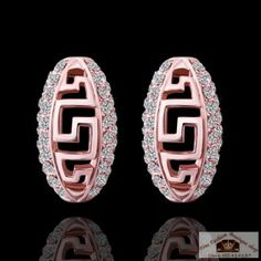 Gold Plated Oval Pattern Shaped Earrings for Women Gift