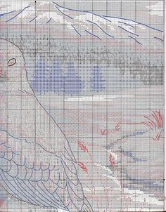 The scheme embroidery Majestic Snowy Owl (Dimensions) 2 of 4
