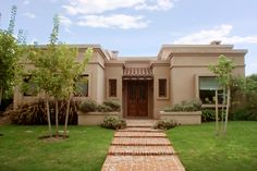A brand new overseas grand real estate selections site, uniting affluent users with grand business listings. Flat Roof House, House Front, Dream House Plans, House Floor Plans, Stucco Homes, Adobe House, American Houses, House Elevation, Mediterranean Homes