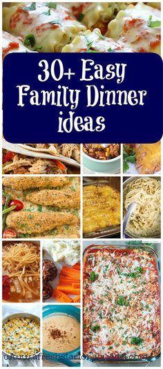 Are you looking for something for dinner that wont take you all day? Here are 30 quick and easy dinner ideas to try tonight for dinner. (Easy Meal On A Budget Weekly Menu) Easy Healthy Recipes, Easy Dinner Recipes, Paleo Recipes, Frugal Recipes, Weeknight Recipes, Paleo Food, Oven Recipes, Cooking Recipes, Weekly Dinner Menu