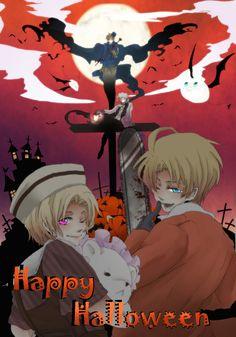 Happy Halloween - むーむー - Hetalia - America / Canada / England