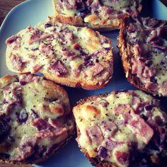Ham& cheese pizza bread.