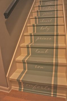 Painted stairs by Bella Tucker Decorative Finishes. This one is the best painted stairs idea yet! Painted Staircases, Painted Stairs, Painted Floors, Diy Carpet, Modern Carpet, Church Lobby, Stair Makeover, Beautiful Stairs, Stair Decor