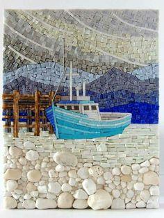 The Mosaic Art of Terry Nicholls Pebble Mosaic, Mosaic Wall, Pebble Art, Mosaic Glass, Mosaic Tiles, Mosaic Mirrors, Rock Mosaic, Paper Mosaic, Mosaic Bathroom