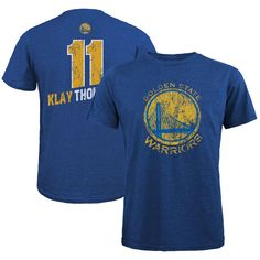 Klay Thompson Golden State Warriors Majestic Threads Name   Number  Tri-Blend T-Shirt - Royal dc2d40d2b
