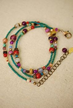 mard001 unique handcrafted artisan designer antique brass czech glass pearl crystal agate gemstone colorful designer bracelet and convertible necklace for women