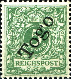 Togo 1897 Overprint on german regulars  [MiNr 2, Sc 2] 5pf