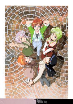 Tags: Scan, Official Art, Gall Force, Anime International Company, Kenichi Sonoda, Rabby, Patty (Gall Force), Catty, Shildy (Gall Force), Sandy (Gall Force)