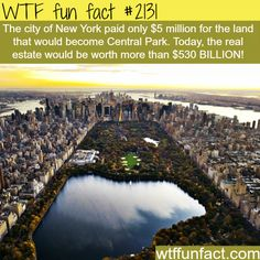 Central Park, NYC: WTF Facts : funny, interesting & weird facts