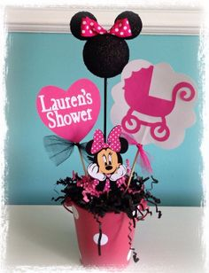 Minnie Mouse baby shower decoration on Etsy, $13.50