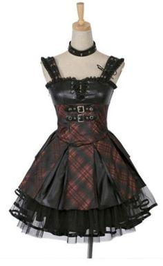 Fashion goth Visual kei punk lolita sweet princess one-piece dress Punk Dress, Goth Dress, Lolita Dress, Gothic Corset Dresses, Lolita Fashion, Gothic Fashion, Look Fashion, Fashion Outfits, Fashion Advice
